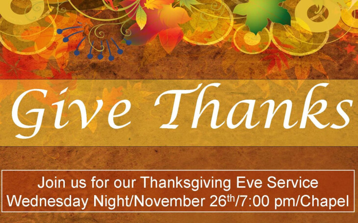 Thanksgiving Eve Service 2014