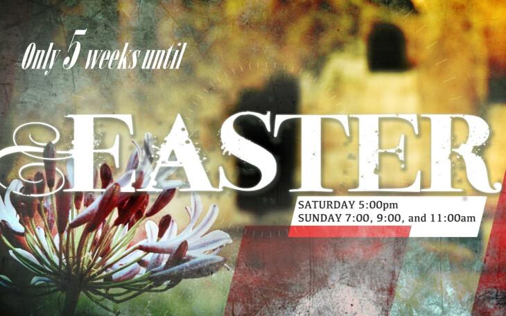 Easter - 5 weeks until!