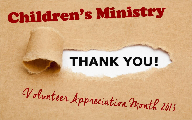 children's ministry volunteer appreciation month