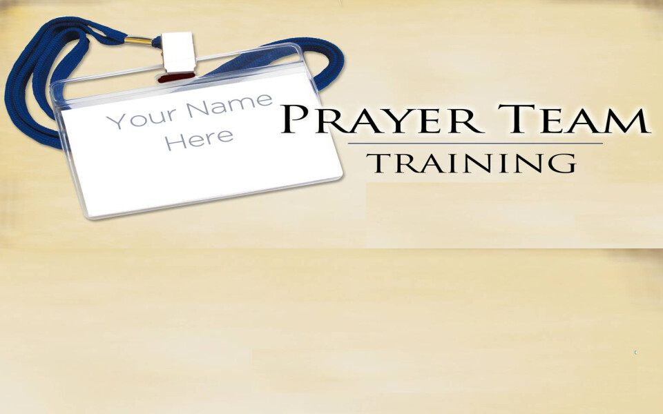 Prayer Team Training