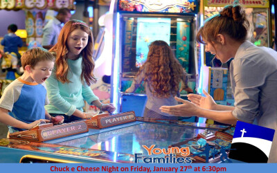 Crossing Young Families Chuck E Cheese Night