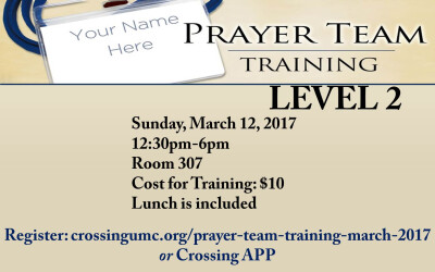 Prayer Team Training Level 2